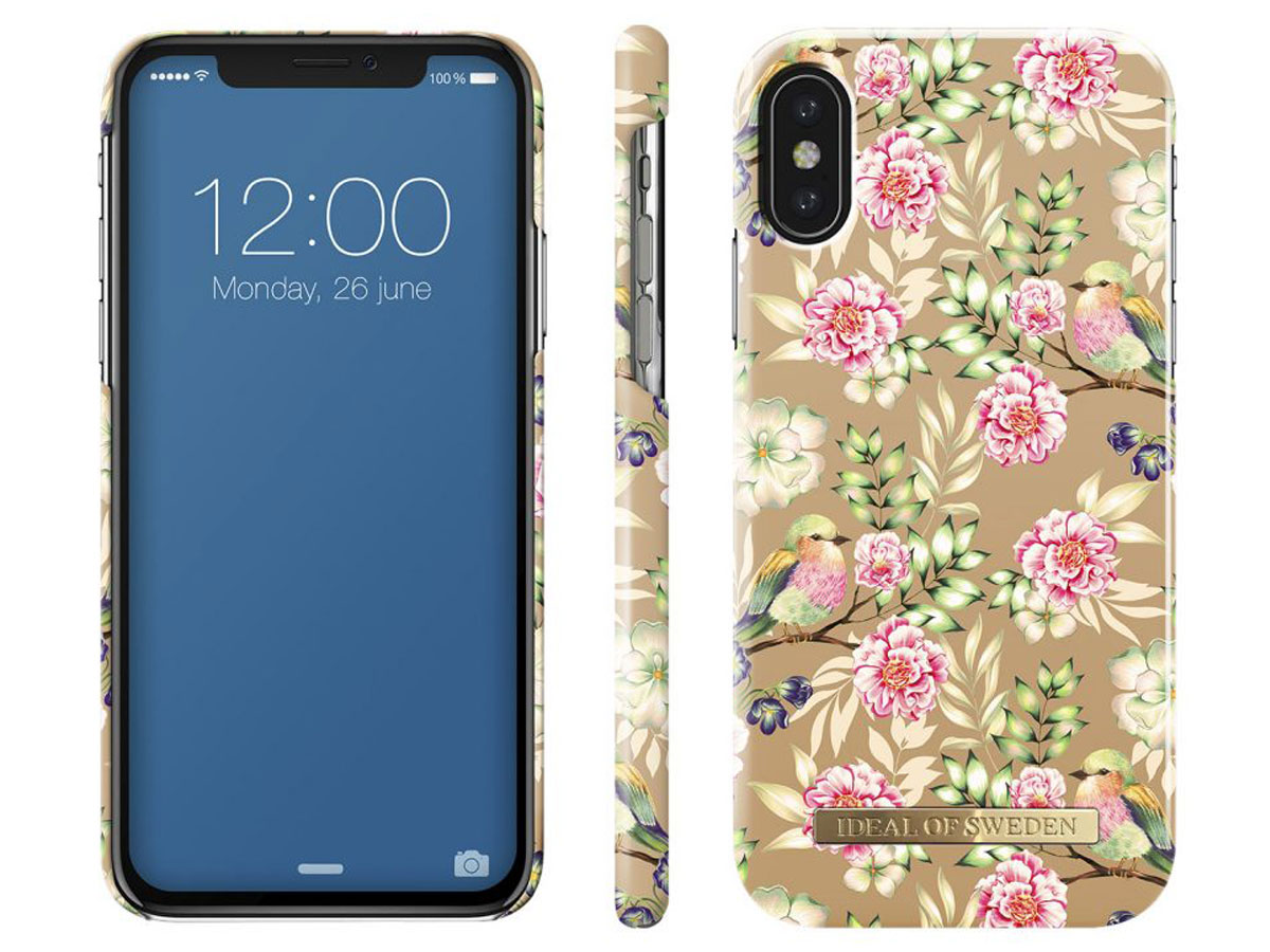 iDeal of Sweden Case Champagne Birds - iPhone X/Xs hoesje