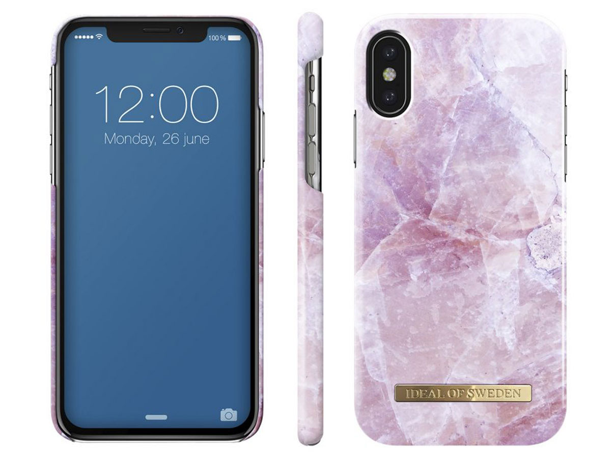 iDeal of Sweden Case Pink Marble - iPhone X hoesje