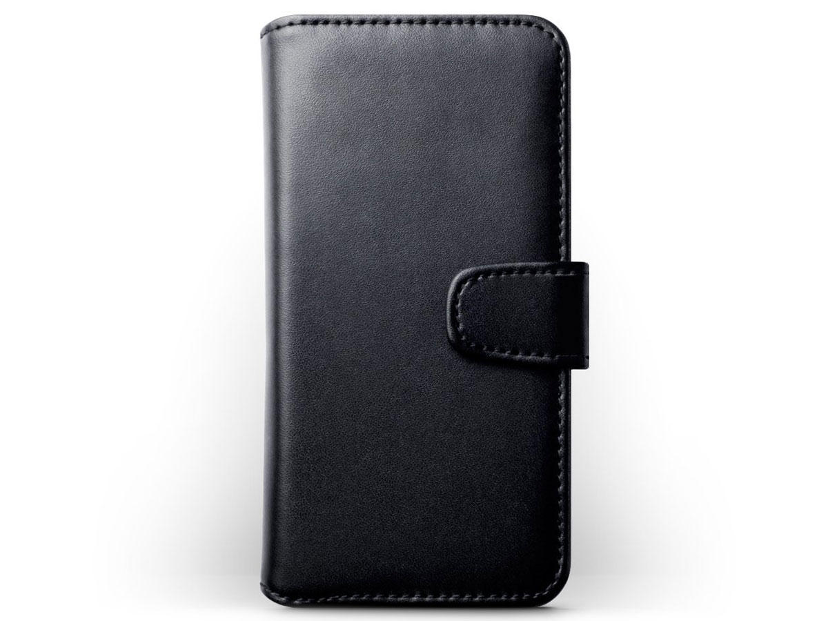 Terrapin Leather Bookcase Zwart - Leren iPhone X hoesje