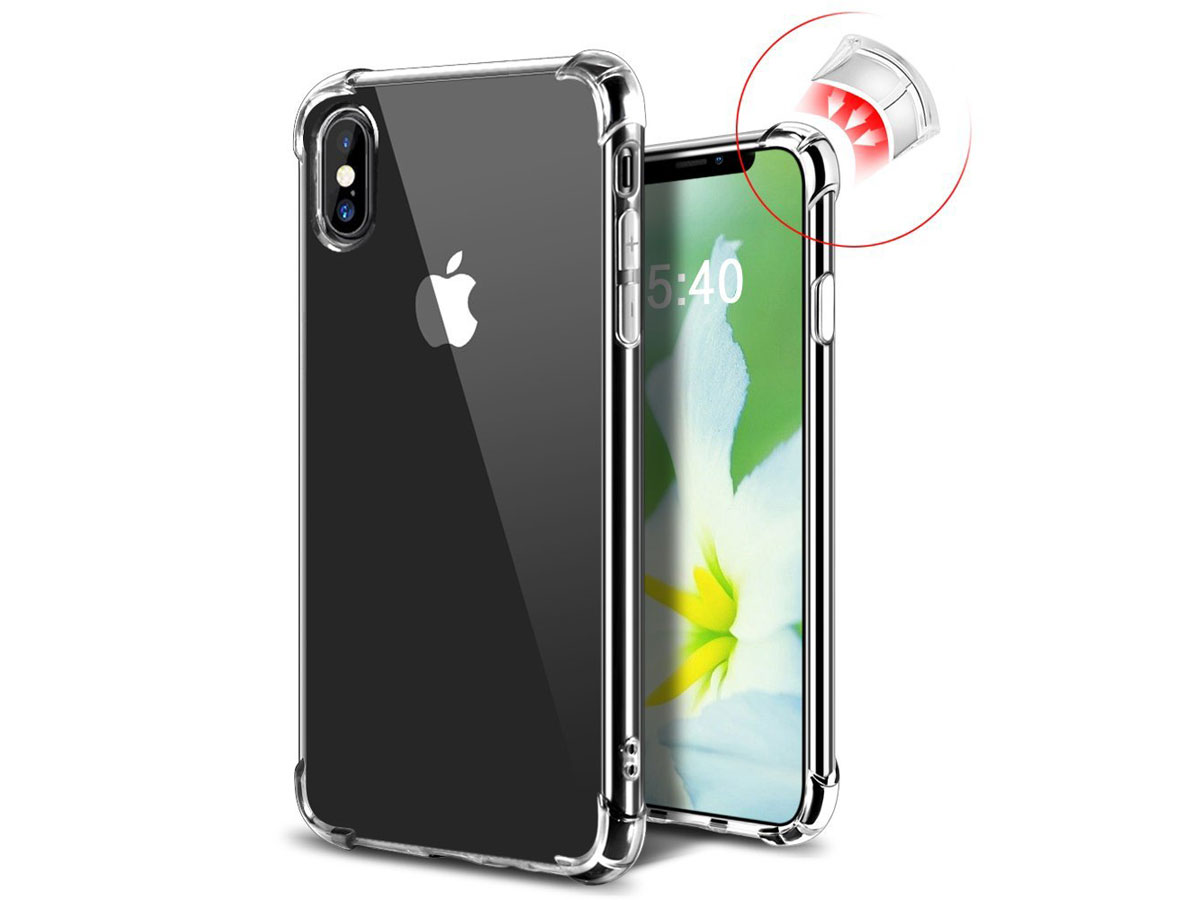 Crystal TPU Anti-Shock - Transparant iPhone X hoesje