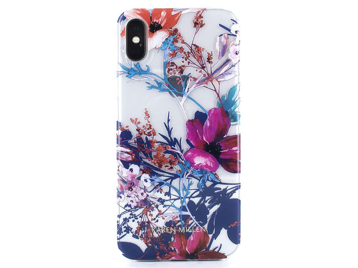 Karen Millen Flower TPU Case - iPhone X/Xs Hoesje Bloemen Print