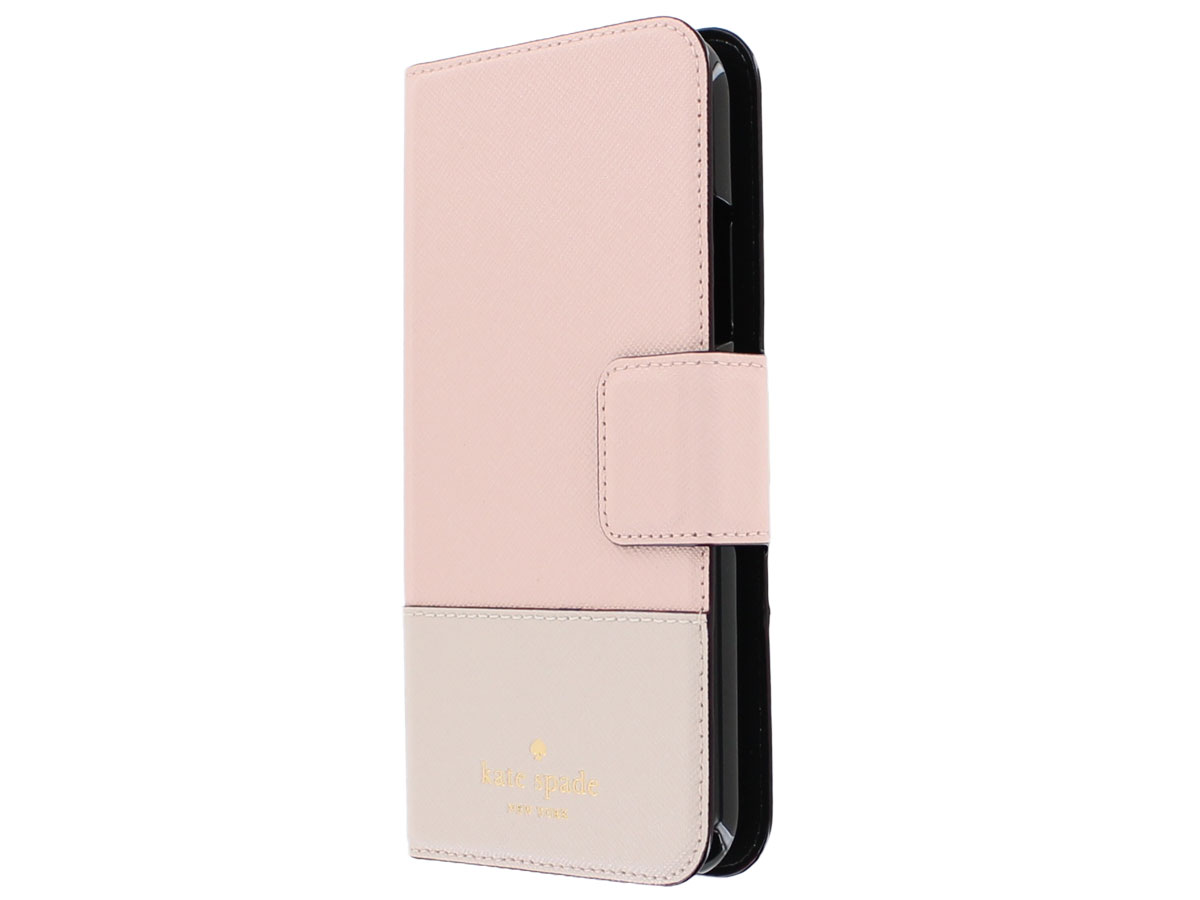 Kate Spade Leather Wrap Folio Roze - iPhone X Hoesje