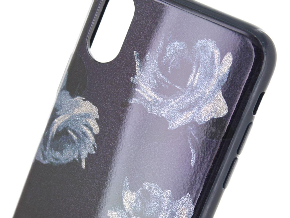 sports shoes b628d 2d16e Kate Spade Night Rose Glitter Case | iPhone X/Xs Hoesje