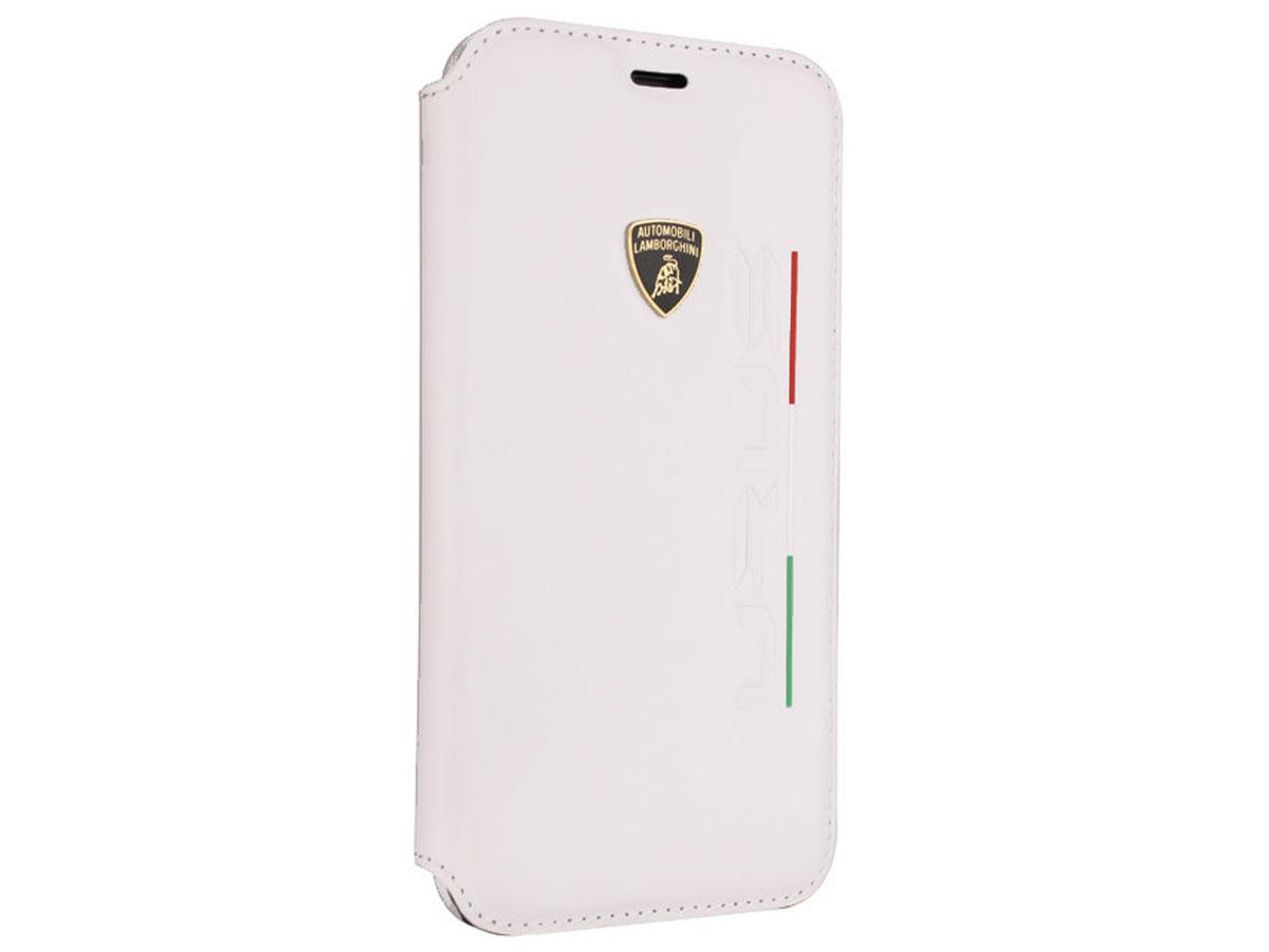 Lamborghini Urus D2 Bookcase Wit Leer - iPhone X/Xs hoesje