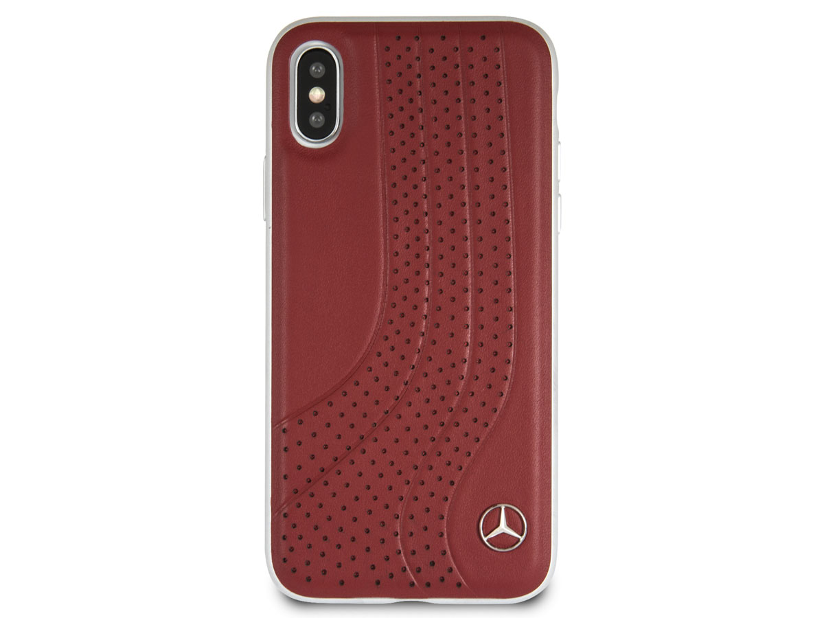Mercedes benz leather case iphone x hoesje for Mercedes benz leather