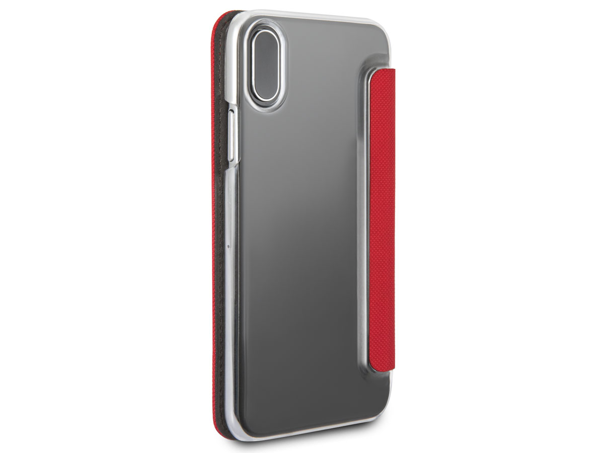 Mini Cooper Stitched Bookcase Rood - iPhone X/Xs hoesje