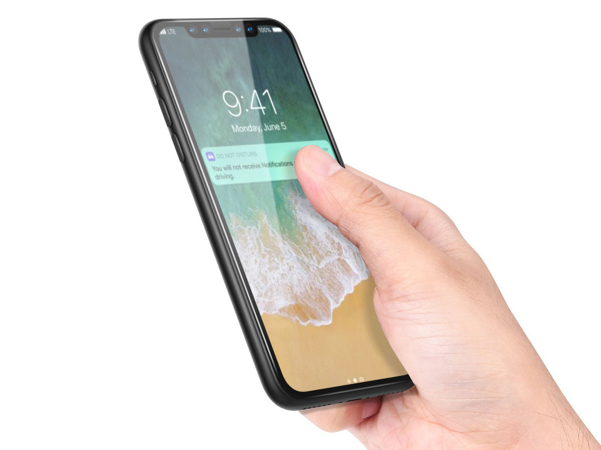 iPhone X Screenprotector - 4D Curved Tempered Glass