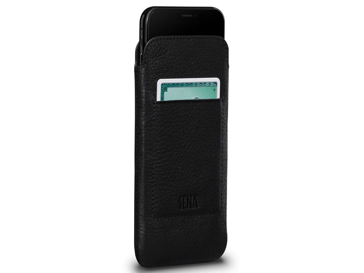 Sena Ultraslim Wallet Sleeve Zwart - iPhone X hoesje