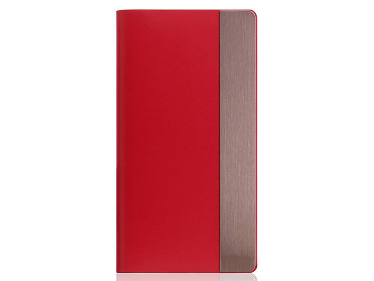 SLG Design D5 CSL Metal Red - Leren iPhone X/Xs hoesje