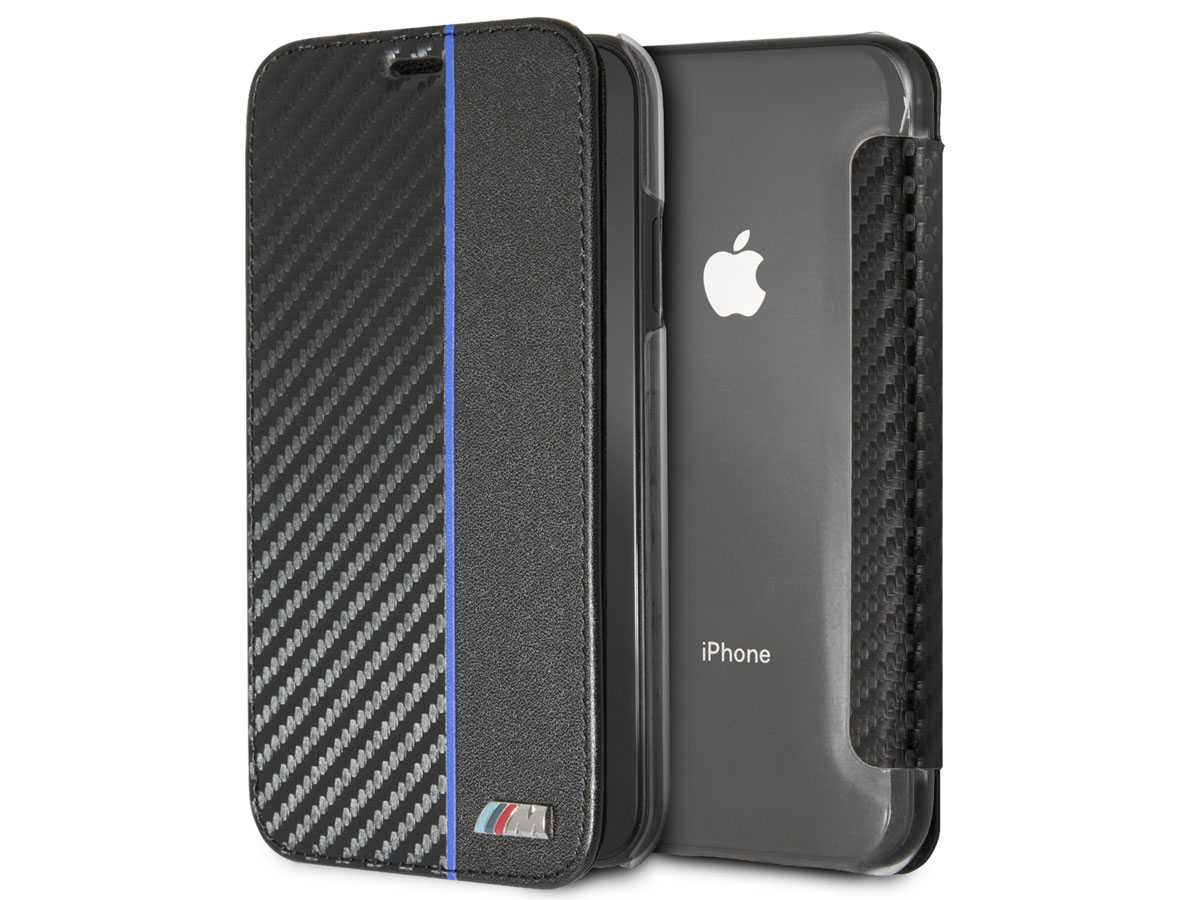 BMW M Sport Flip Case Blauw - iPhone XR hoesje