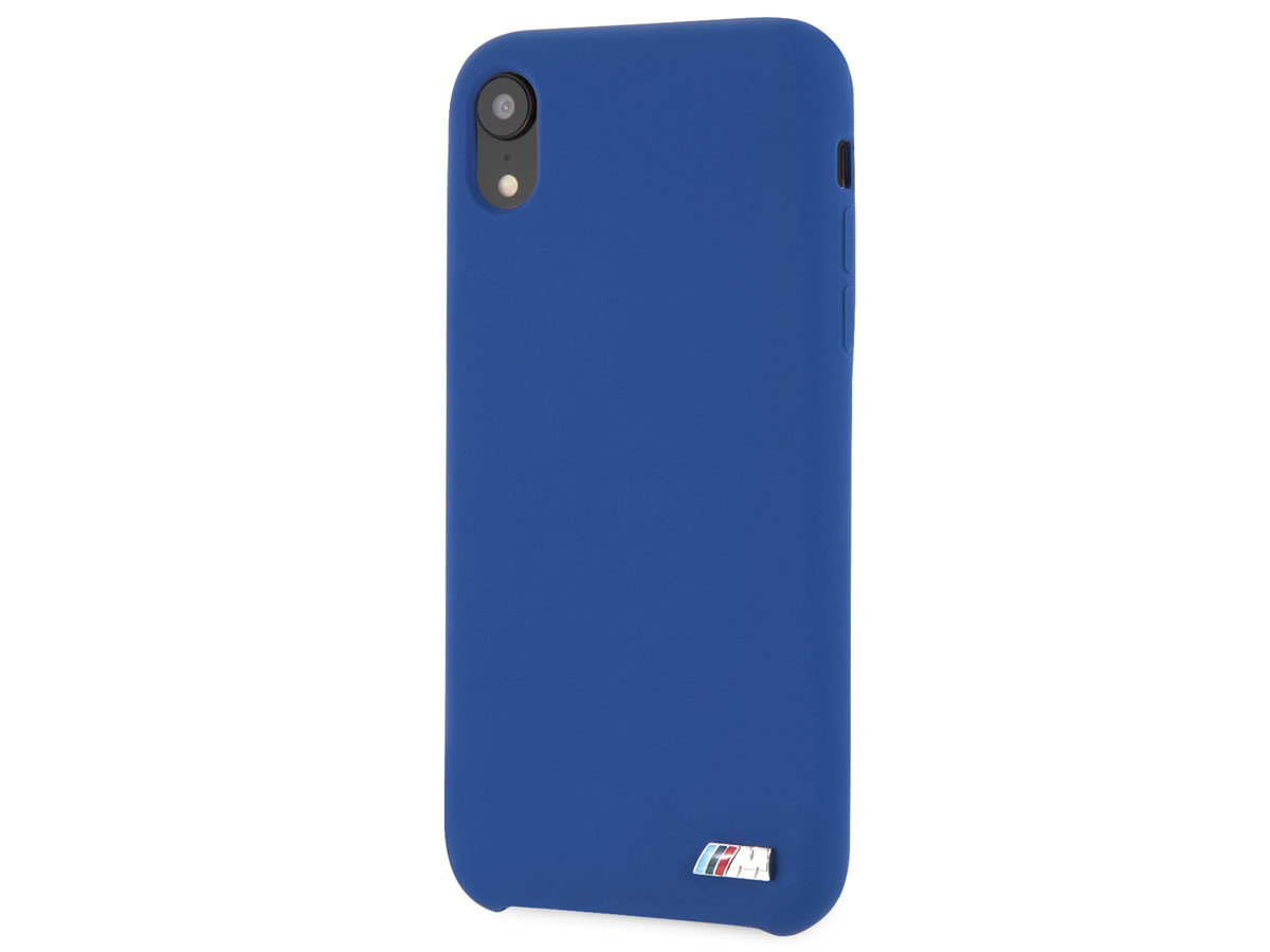 BMW M Sport Silicone Case Blauw - iPhone XR Hoesje