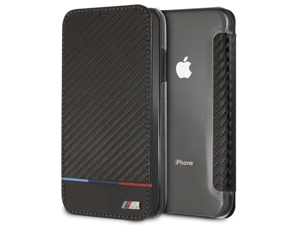 BMW M Tricolor Bookcase - iPhone XR hoesje