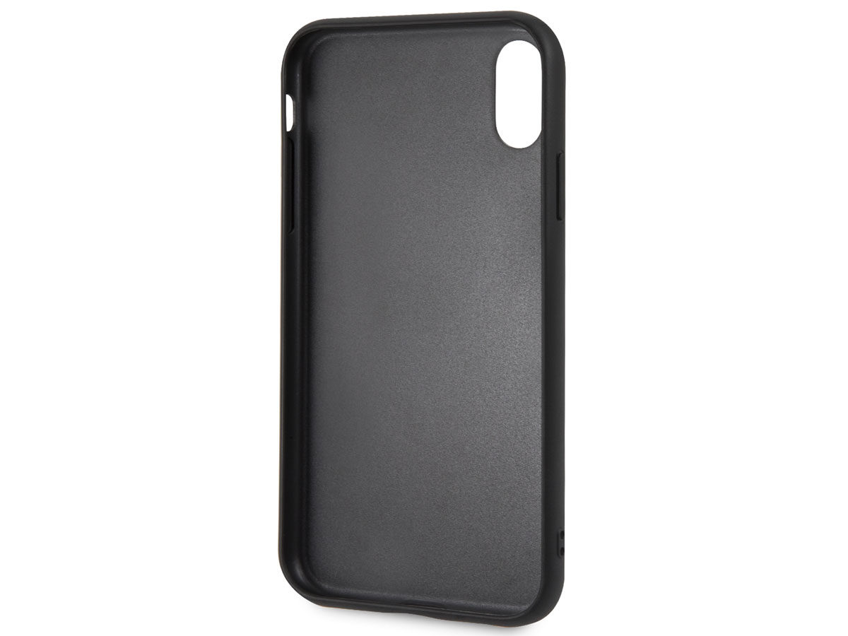 BMW Parforated Case Bruin Leer - iPhone XR hoesje