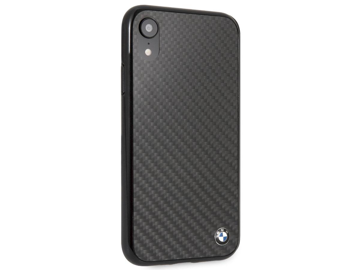 bmw carbon fiber hard case iphone xr hoesje. Black Bedroom Furniture Sets. Home Design Ideas