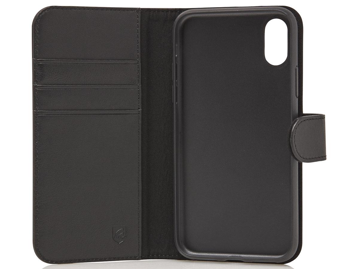 Castelijn & Beerens 2in1 Wallet Zwart Leer - iPhone XR hoesje