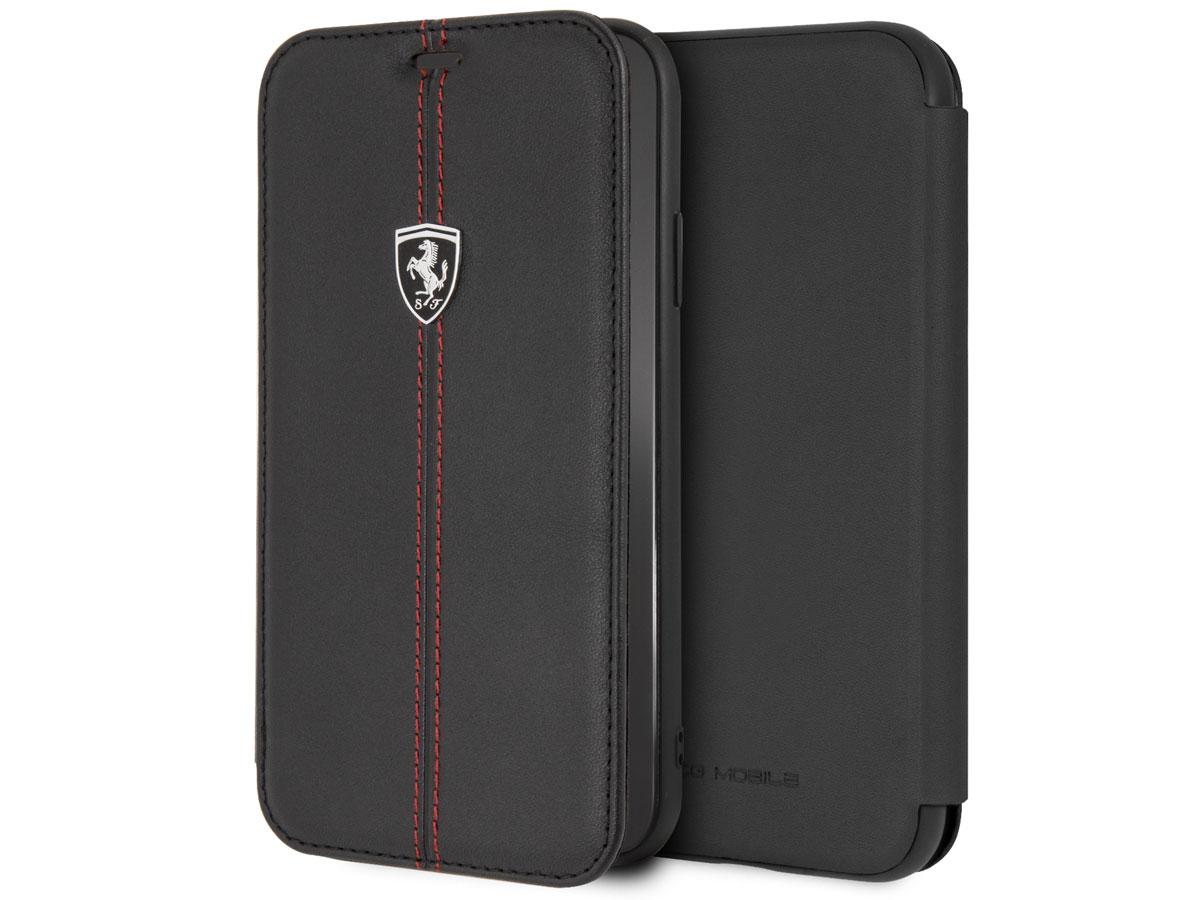 Ferrari Heritage Book Zwart Leer - iPhone XR hoesje