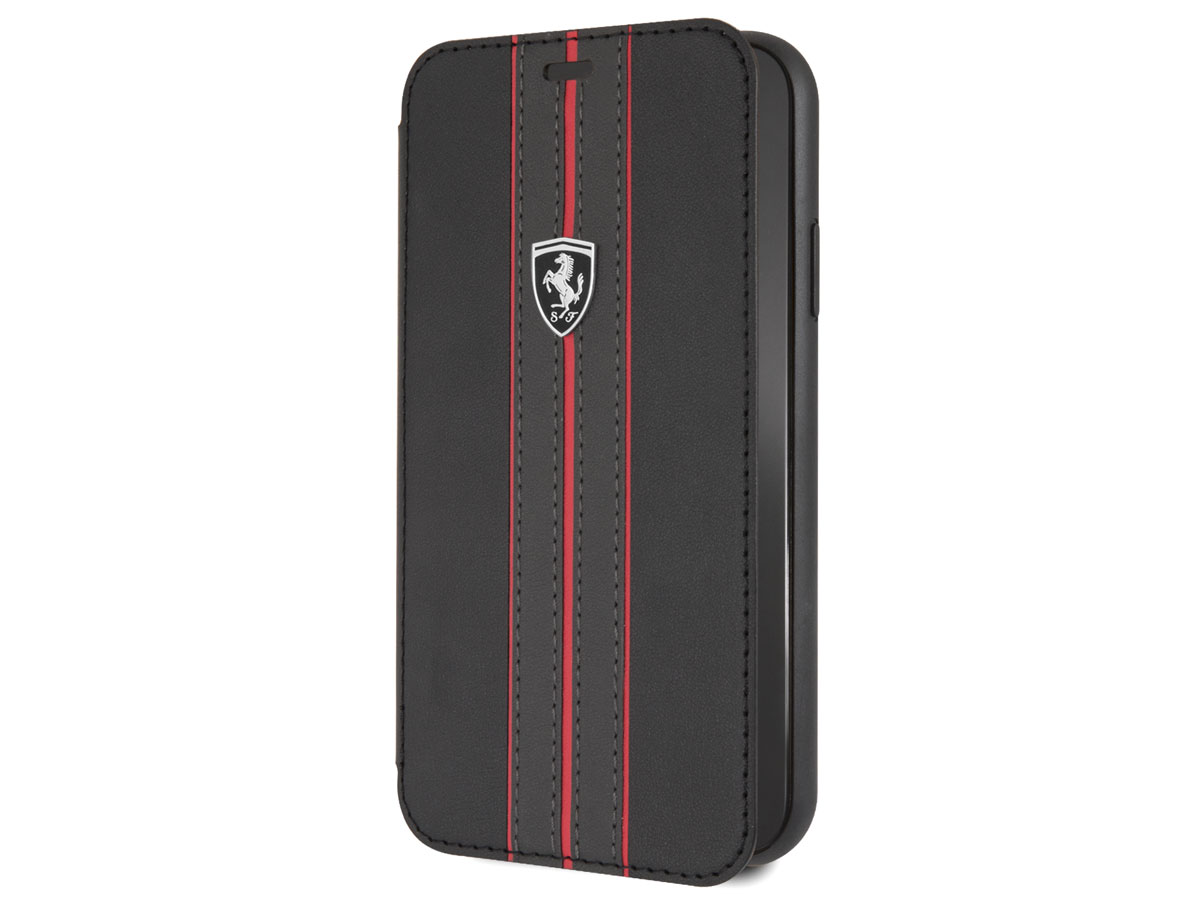 Ferrari Urban Folio Bookcase Zwart - iPhone XR hoesje