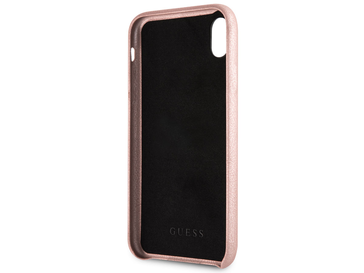 Guess Iridescent Strap Case Rosé - iPhone XR hoesje