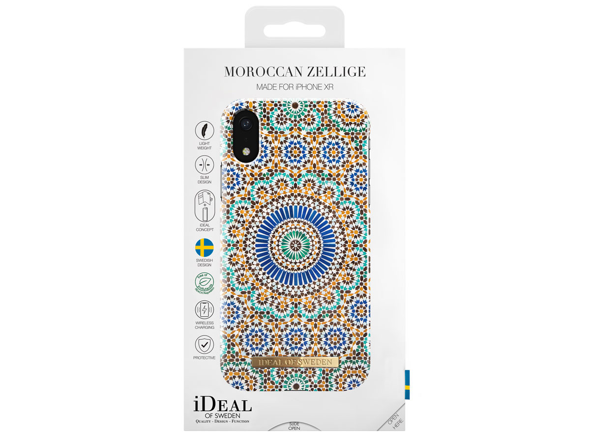 iDeal of Sweden Case Moroccan Zellige - iPhone XR hoesje