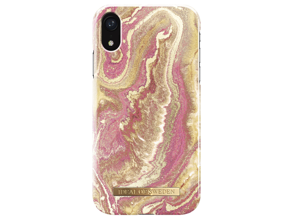 iDeal of Sweden Case Golden Blush Marble - iPhone XR hoesje