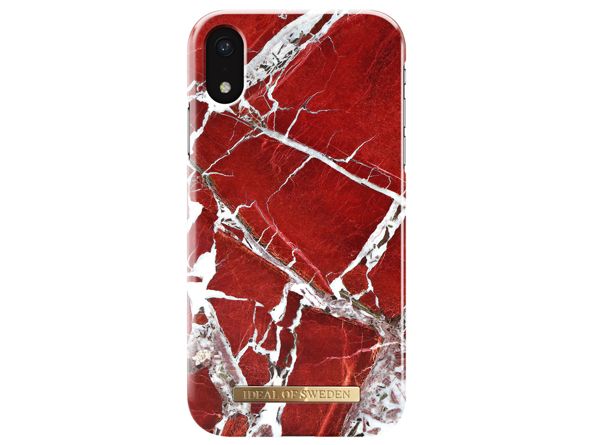 iDeal of Sweden Case Scarlet Red Marble - iPhone XR hoesje