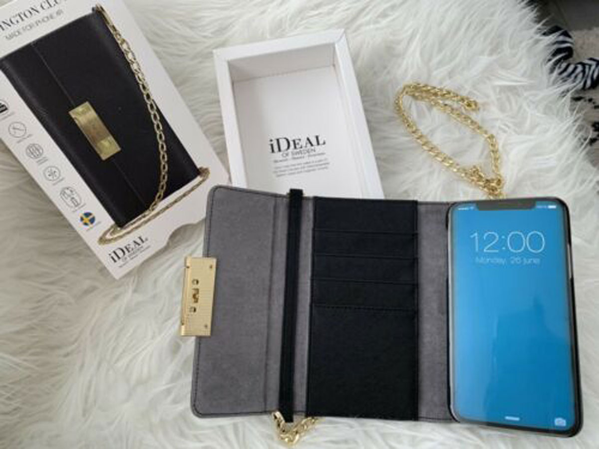 iDeal of Sweden Kensington Clutch Zwart - iPhone XR Hoesje