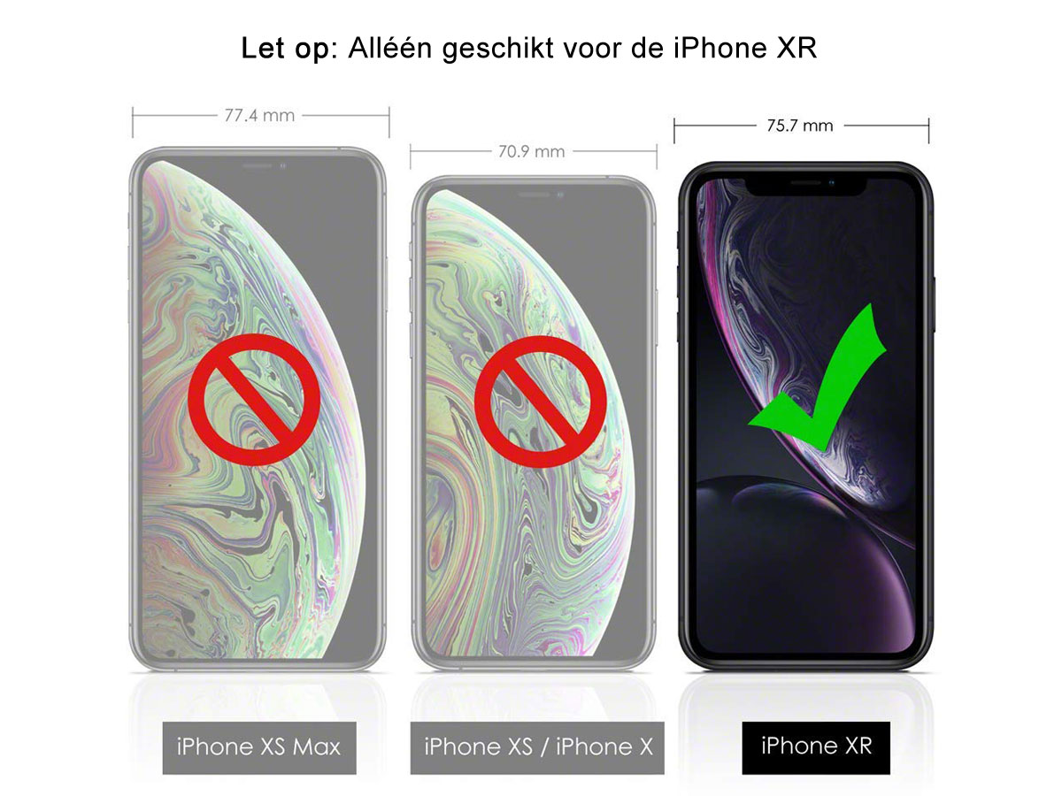 Audi Q8 Series Case Rood Leer - iPhone XR hoesje
