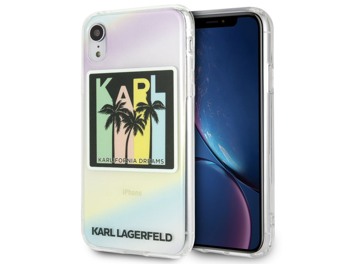 Karl Lagerfeld Karlifornia Dreams Case - iPhone XR hoesje Transparant