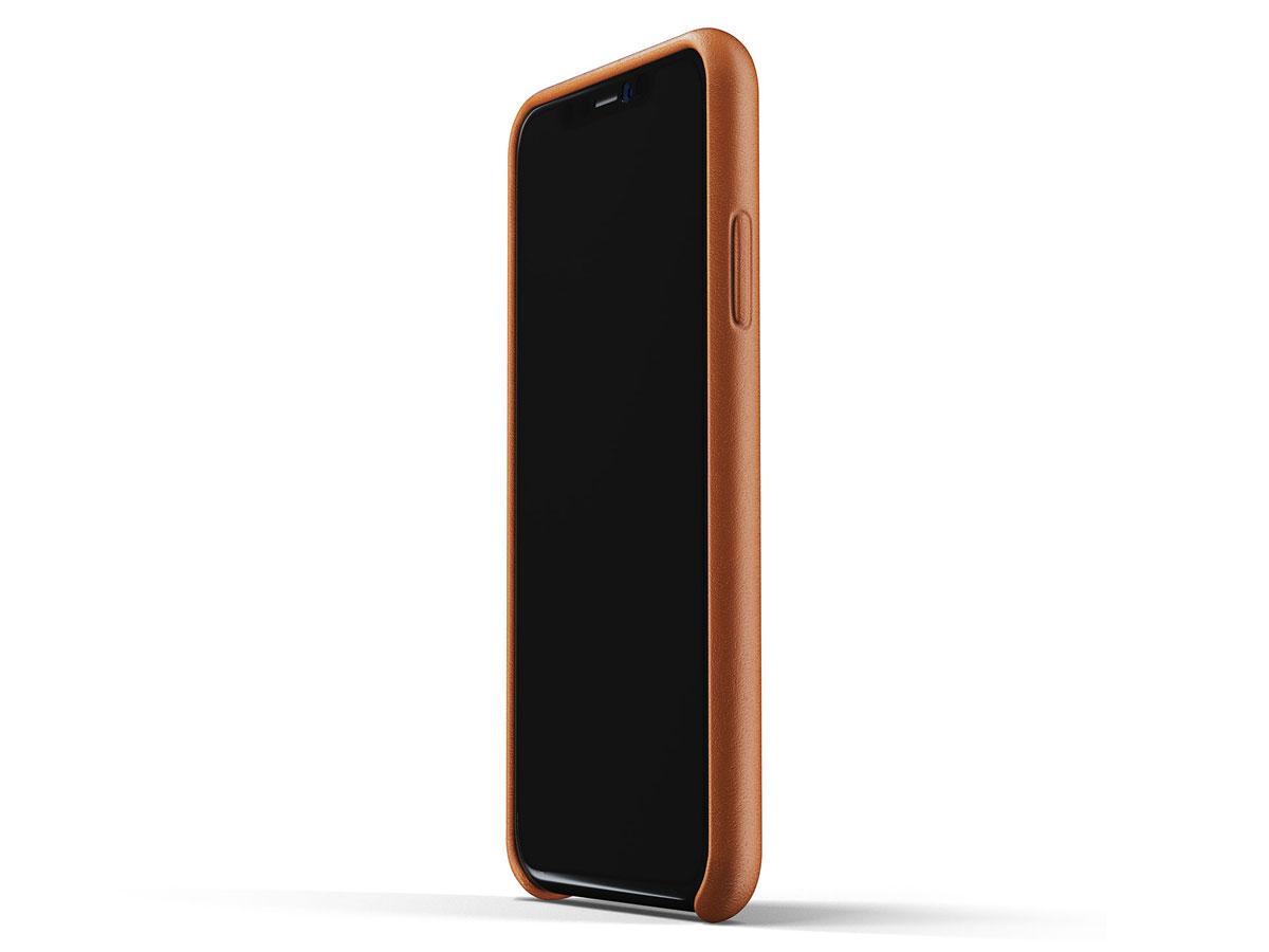 Mujjo Full Leather Wallet Tan   iPhone XR hoesje