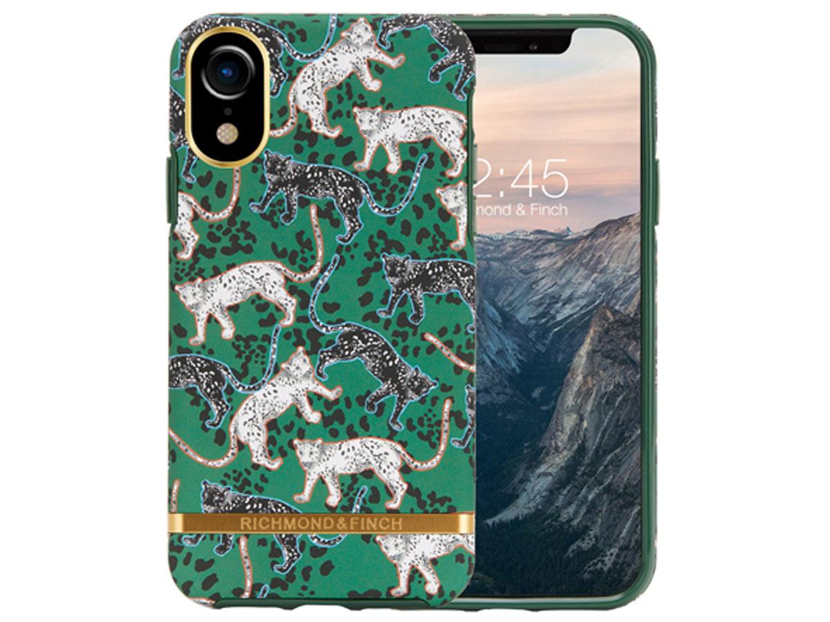 Richmond & Finch Green Leopard Case - iPhone XR hoesje Tijger