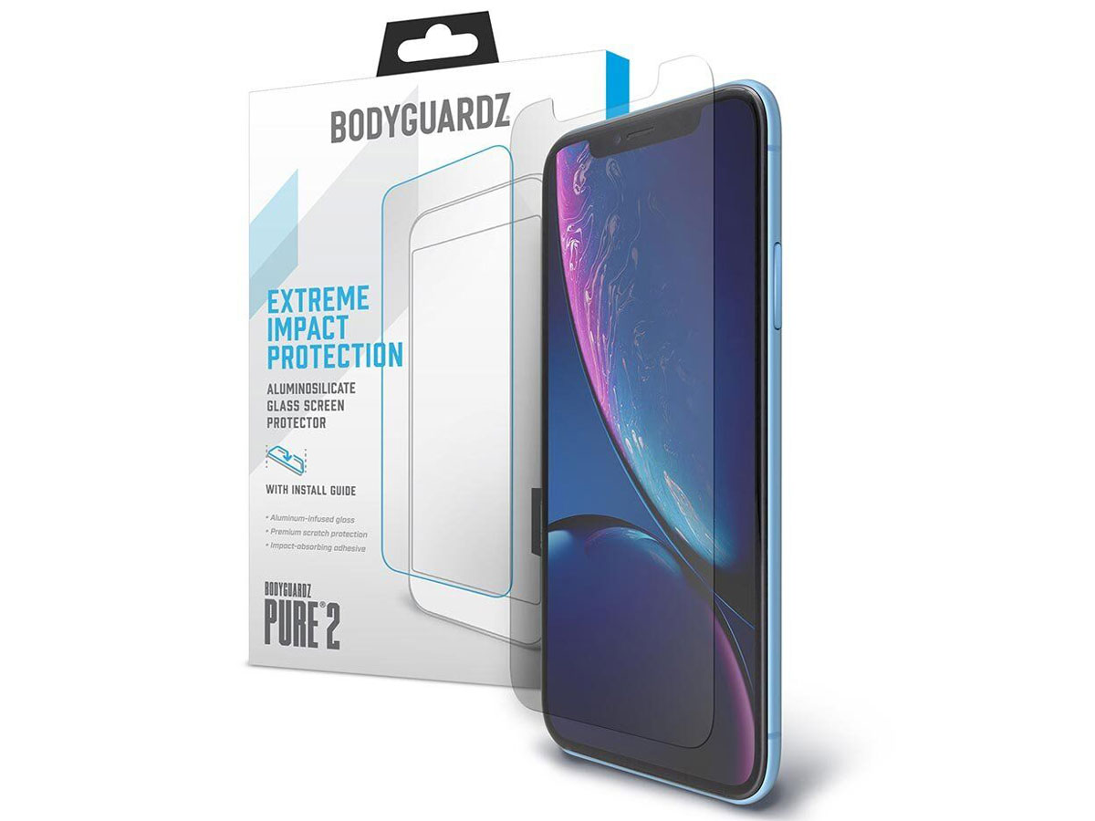 Bodyguardz Pure 2 Glass - iPhone XR Screen Protector Transparant