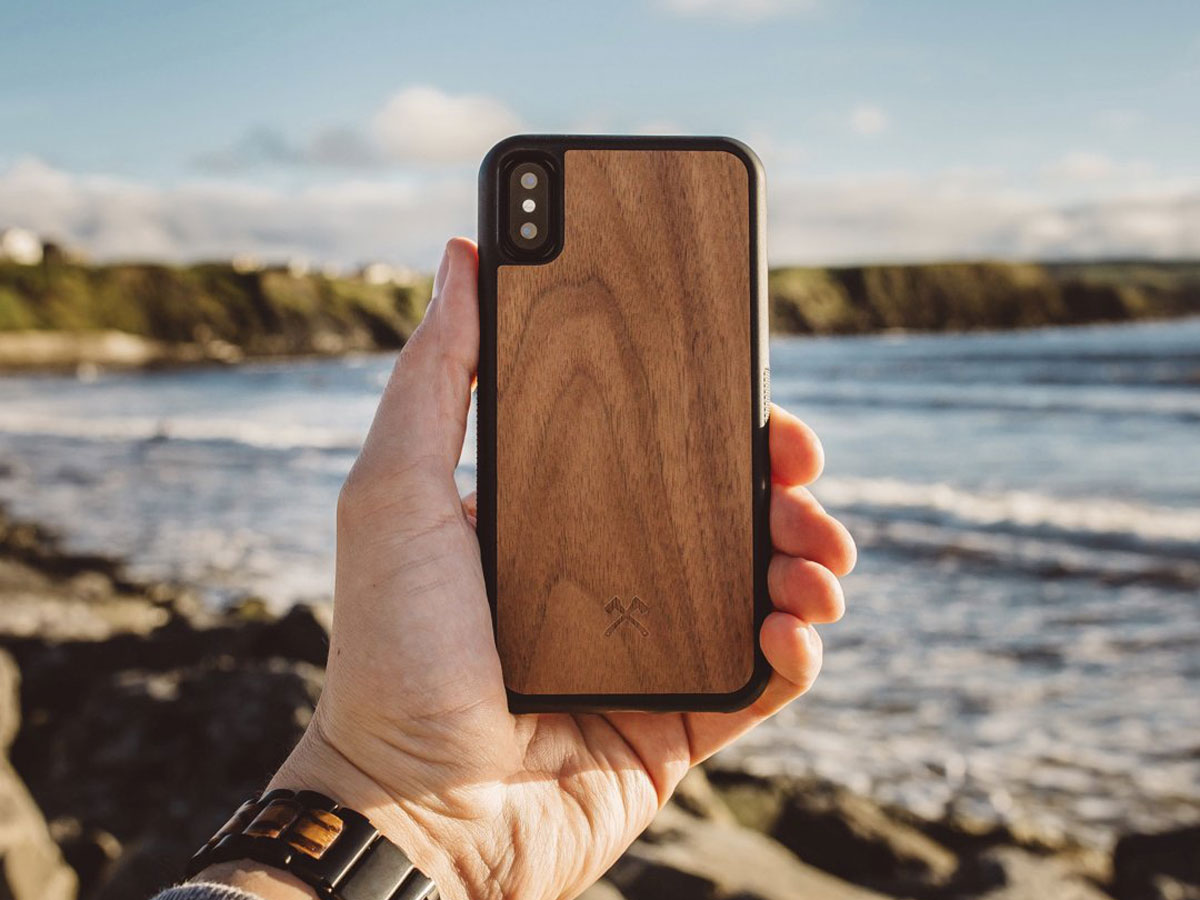 Woodcessories EcoCase Bumper Walnut - iPhone X/Xs hoesje