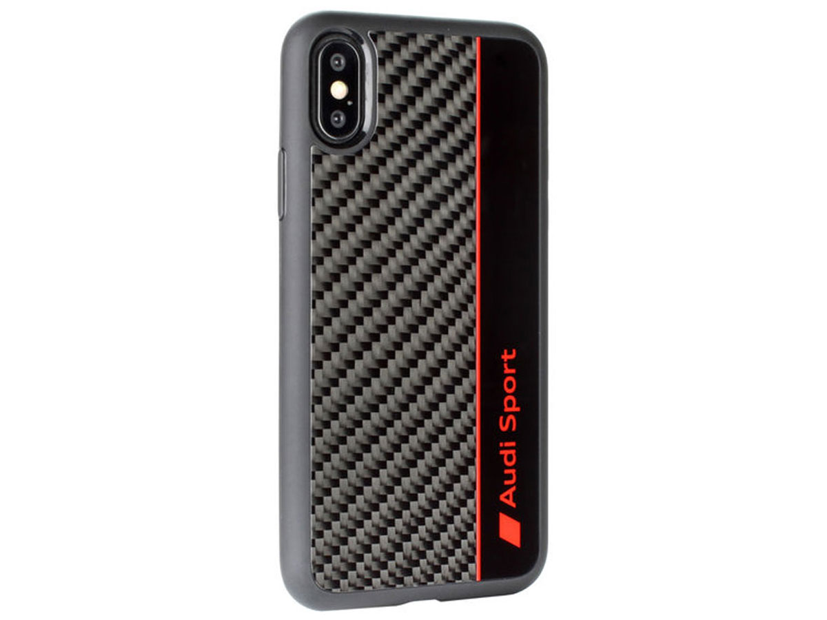 Audi R8 Series Carbon Case Zwart - iPhone X/Xs hoesje