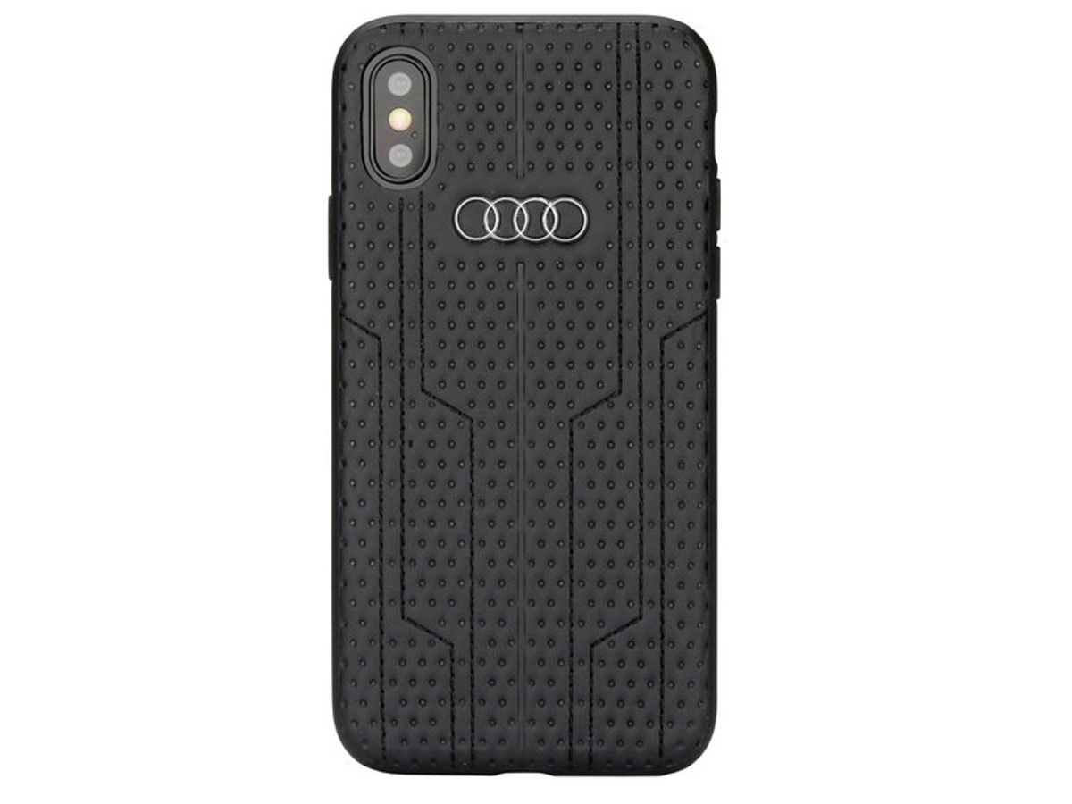 Audi A6 Series Hard Case Zwart - iPhone X/Xs hoesje