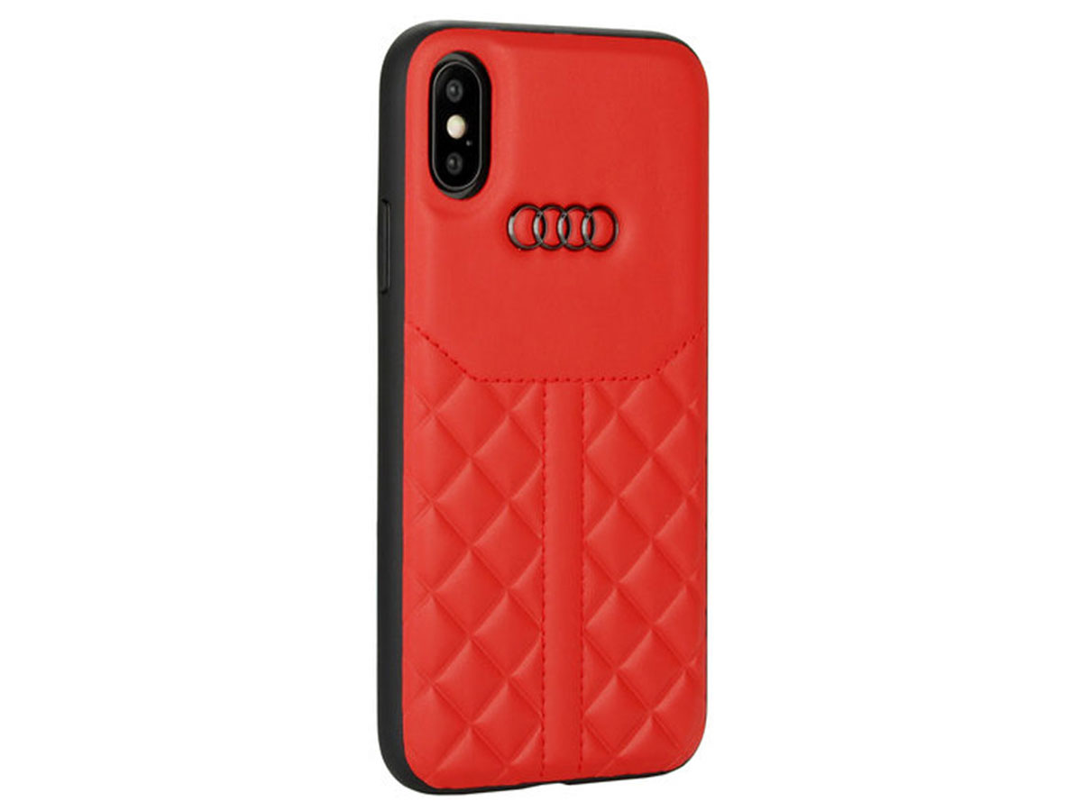 Audi Q8 Series Case Rood Leer - iPhone X/Xs hoesje