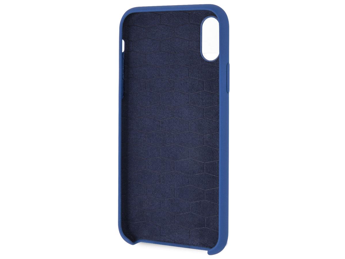 BMW M Sport Silicone Case Blauw - iPhone X/Xs Hoesje