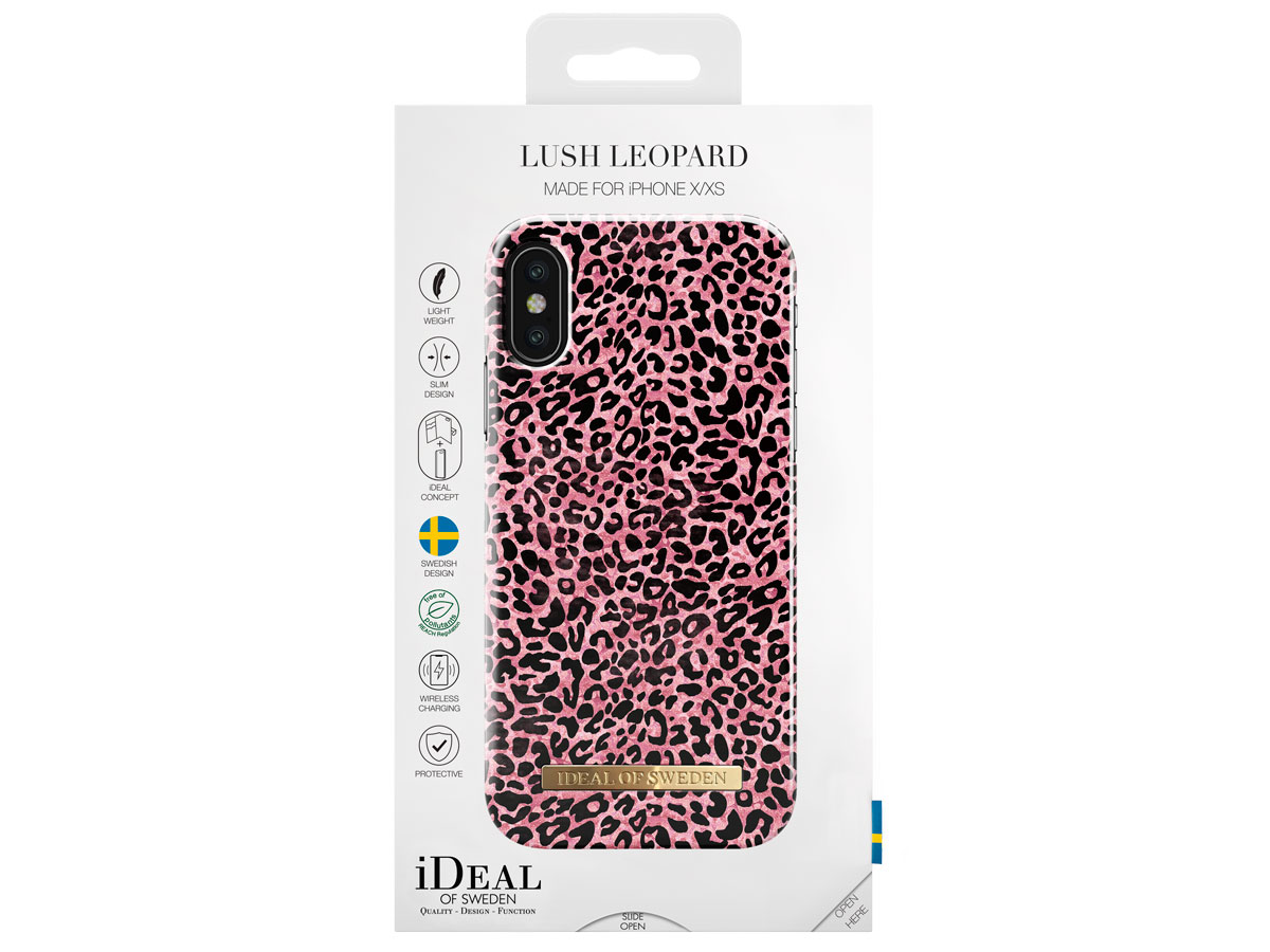 iDeal of Sweden Case Lush Leopard - iPhone X/Xs hoesje