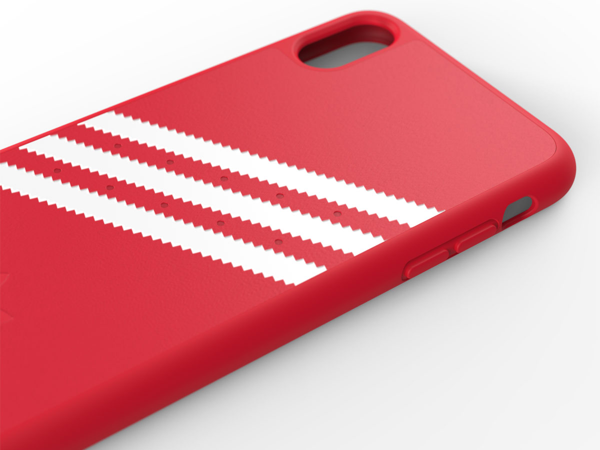 adidas Originals Suède Back Case Rood - iPhone Xs Max hoesje