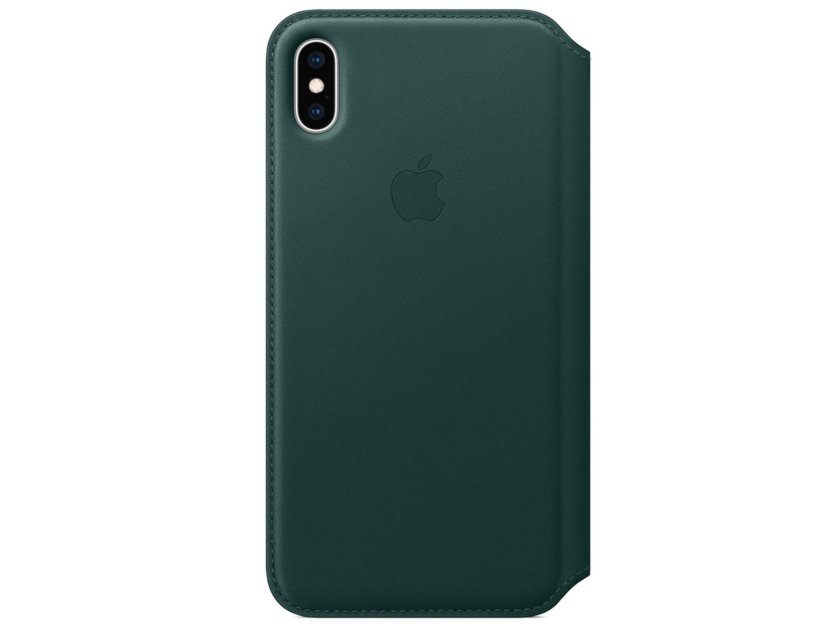 Apple Leather Folio Case Forest Green - iPhone Xs Max hoesje