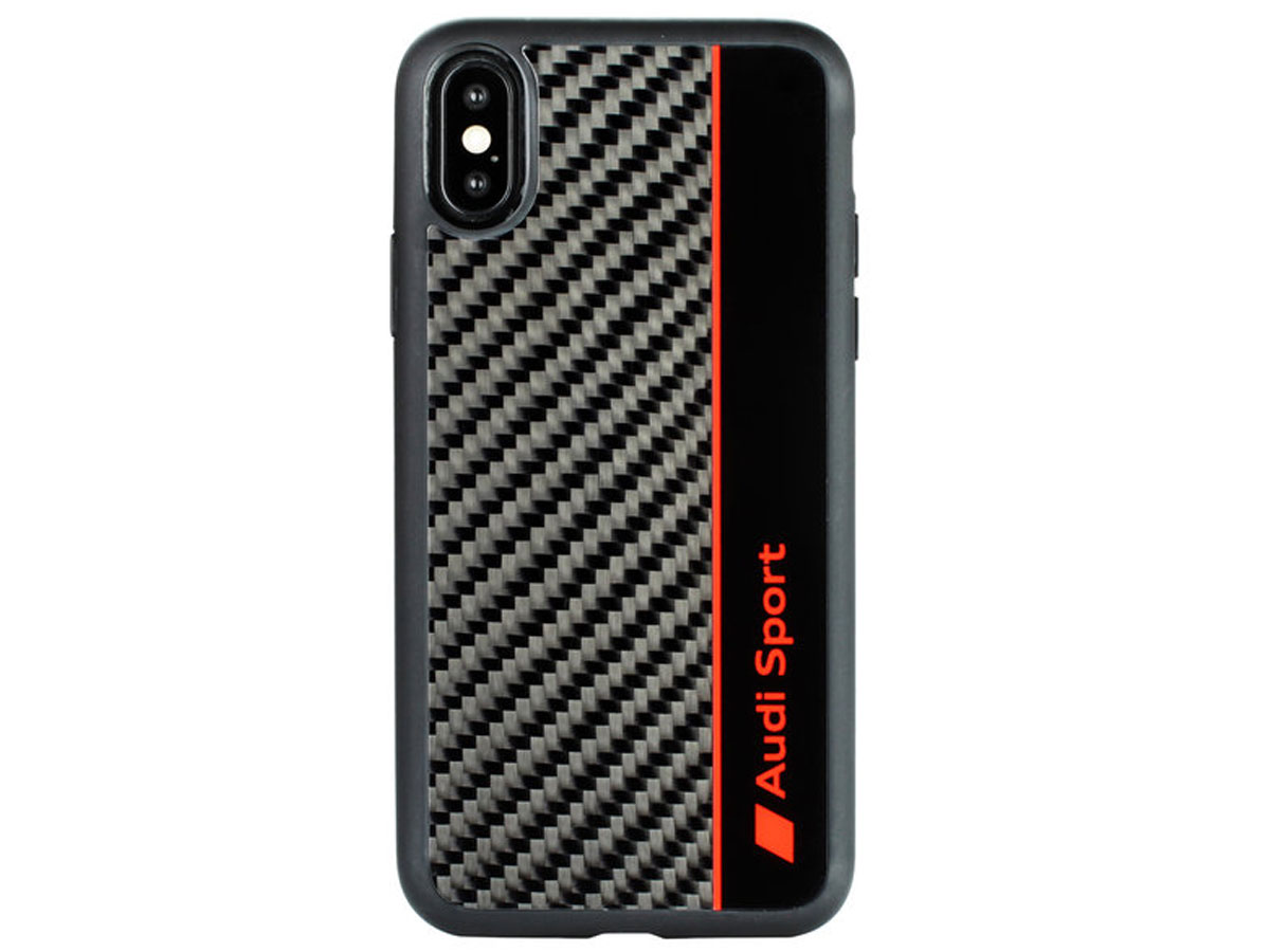 Audi R8 Series Carbon Case Zwart - iPhone Xs Max hoesje