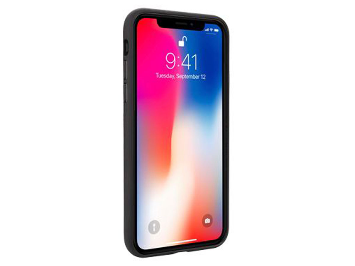 Audi Q8 Series Case Zwart Leer - iPhone Xs Max hoesje