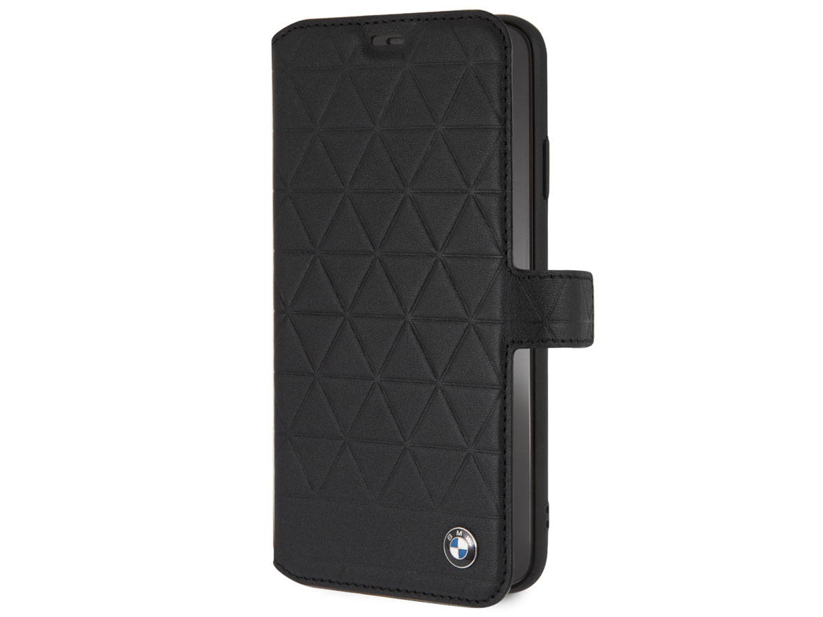 BMW Hexagon Folio Zwart Leer - iPhone Xs Max hoesje