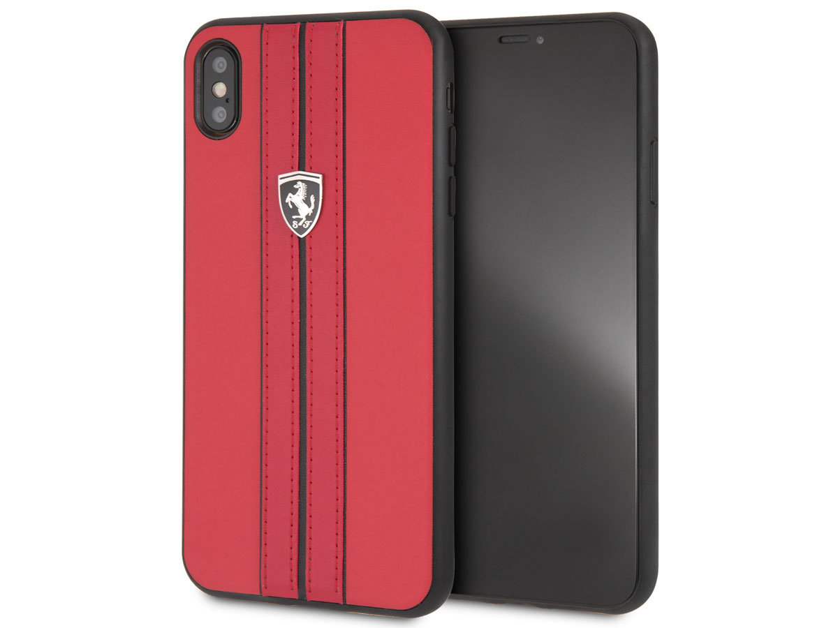 Ferrari Urban Hard Case Rood - iPhone Xs Max hoesje