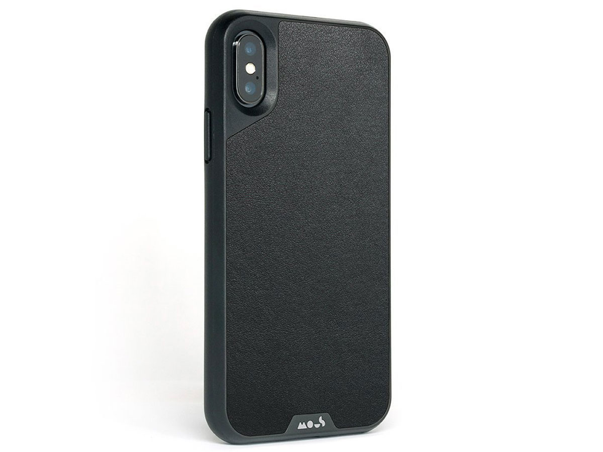 Mous Limitless 2.0 Leather Case - iPhone Xs Max hoesje Zwart