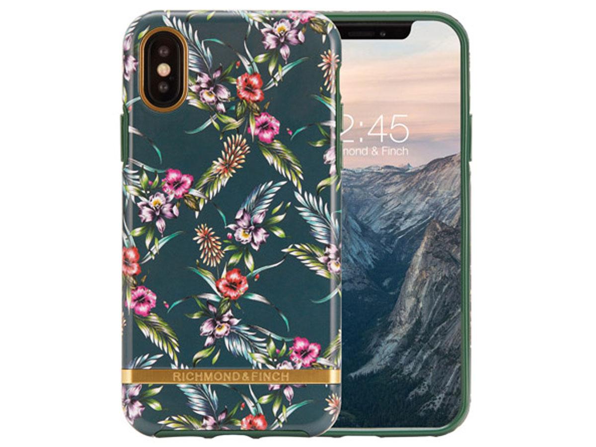 Richmond & Finch Emerald Blossom - iPhone Xs Max hoesje Bloemen Print