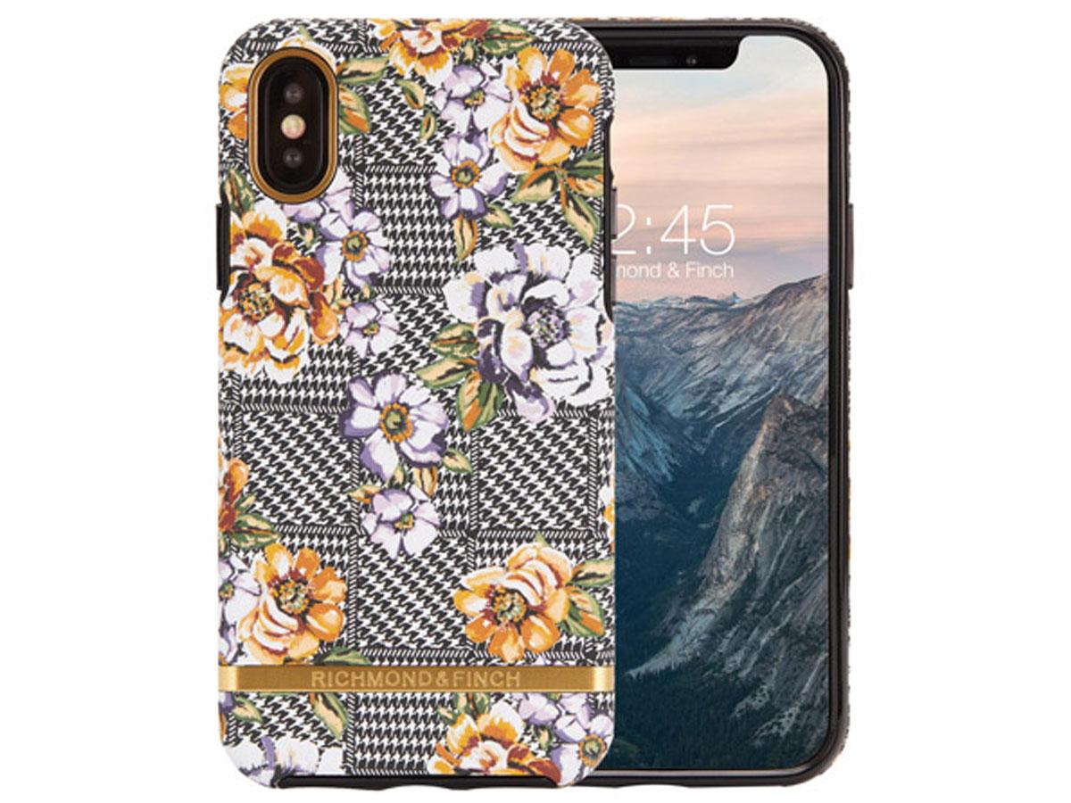 Richmond & Finch Floral Tweed - iPhone Xs Max hoesje Bloemen Print