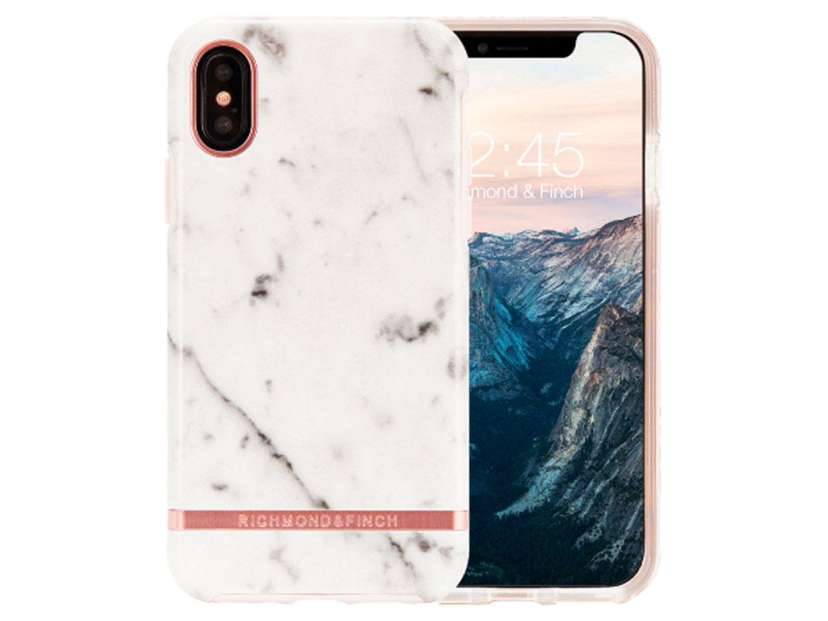 Richmond & Finch White Marble - iPhone Xs Max hoesje Marmer print