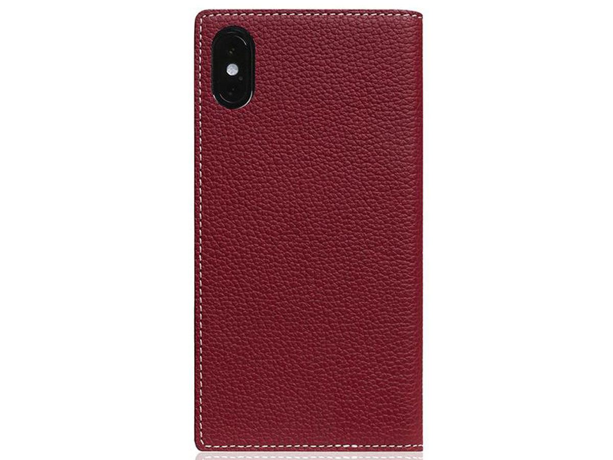 SLG Design D8 Book Burgundy Leer - iPhone Xs Max hoesje