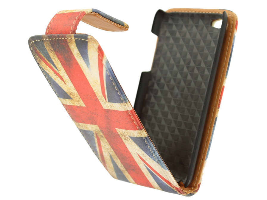 Great Brittain Vintage Flip Case voor iPod touch 4G
