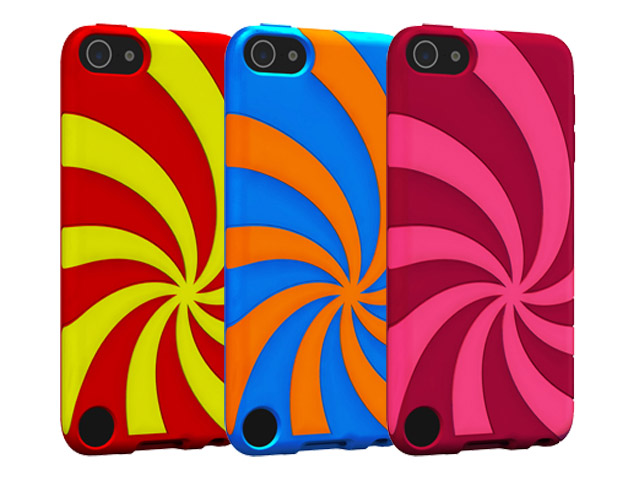 Gecko Swirl Silicone Skin Case Hoesje voor iPod touch 5G/6G